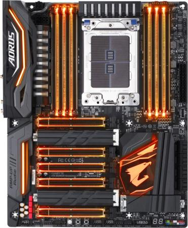 Материнская плата GigaByte X399 AORUS GAMING 7 Socket TR4 AMD X399 8xDDR4 5xPCI-E 16x 8xSATAIII ATX Retail подставка для предметов madeleine amd tr 1073299