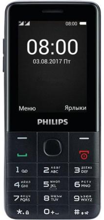 Мобильный телефон Philips Xenium E116 черный 2.4 32 Мб 3G мобильный телефон philips e116 black