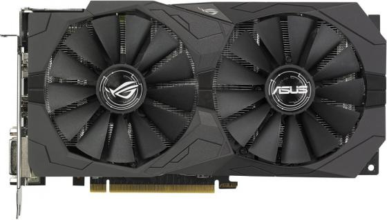 Видеокарта 4096Mb ASUS RX 570 PCI-E DVI HDMI DP HDCP ROG-STRIX-RX570-4G-GAMING Retail asus asus vp228h 21 5 черный dvi hdmi full hd