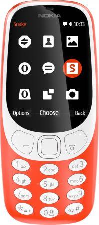 Телефон NOKIA 3310 Dual красный 2.4 зу partner nokia 3310