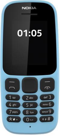 Мобильный телефон NOKIA 105 Dual Sim 2017 голубой 1.8 4 Мб мобильный телефон nokia 216 dual sim голубой