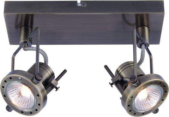 Спот Arte Lamp Costruttore A4300AP-2BK подсветка costruttore a4300ap 2ab 2х50вт gu10 металл античная бронза