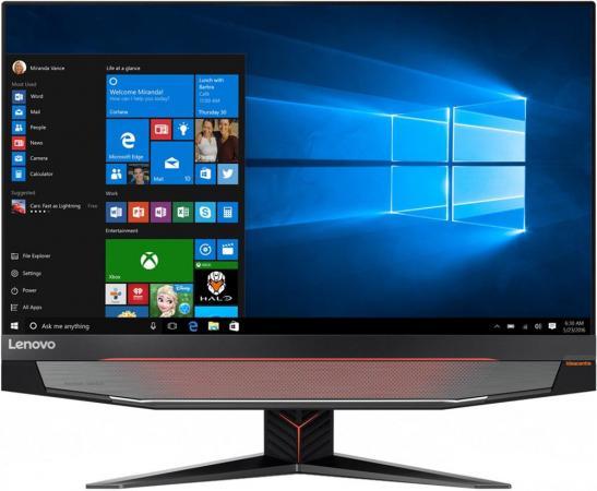 "Моноблок Lenovo IdeaCentre Y910-27ISH 27"" UHD i7 6700 (3.4)/16Gb/2Tb 7.2k/SSD128Gb/GTX1080 8Gb/DVDRW/Windows 10/GbitEth/клавиатура/мышь/Cam/черный 2560x1440"