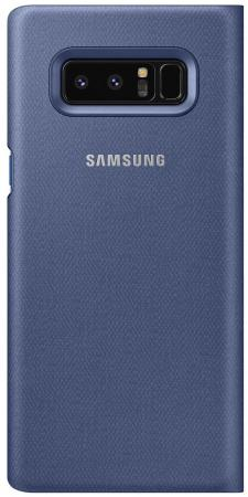 Чехол (флип-кейс) Samsung для Samsung Galaxy Note 8 LED View Cover темно-синий (EF-NN950PNEGRU) аксессуар чехол samsung j3 2017 j330f zibelino clear view black zcv sam j330 blk