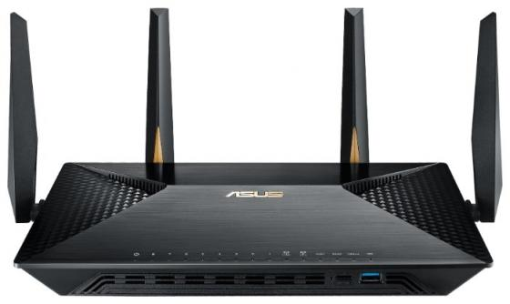 Беспроводной маршрутизатор ASUS BRT-AC828 802.11aс 2534Mbps 2.4 ГГц 5 ГГц 8xLAN USB черный цена