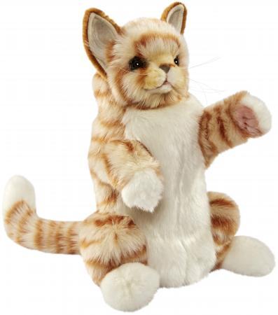 Мягкая игрушка кот Hansa Рыжий кот, на руку 30 см рыжий плюш 7182