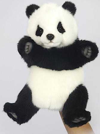 Мягкая игрушка панда Hansa 7165 30 см белый черный искусственный мех hansa мягкая игрушка панда hansa 25см