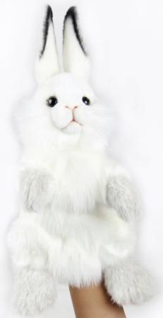 Мягкая игрушка Hansa Белый кролик, игрушка на руку, 34 см 7156