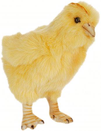 Мягкая игрушка цыпленок Hansa 5378 12 см желтый искусственный мех электроплита hansa fccw 54002