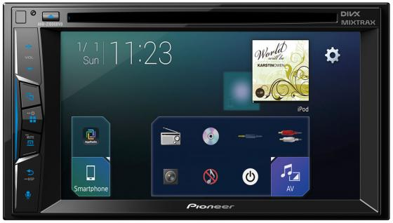 Автомагнитола Pioneer AVH-Z1000DVD 6.2USB MP3 CD DVD FM 2DIN 4x50Вт черный