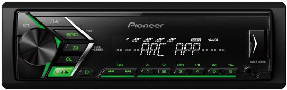 Автомагнитола Pioneer MVH-S100UBG USB MP3 FM RDS 1DIN 4x50Вт черный автомагнитола kenwood kmm 103ry usb mp3 fm rds 1din 4х50вт черный