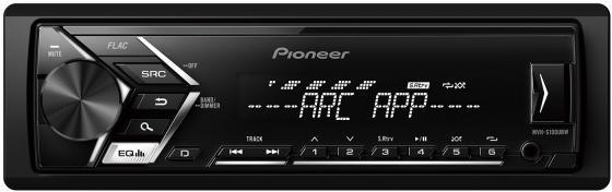 Автомагнитола Pioneer MVH-S100UBW USB MP3 FM RDS 1DIN 4x50Вт черный автомагнитола kenwood kmm 103gy usb mp3 fm 1din 4х50вт черный