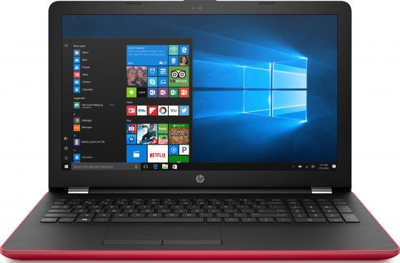 Ноутбук HP 15-bs043ur 15.6 1366x768 Intel Pentium-N3710 500 Gb 4Gb Intel HD Graphics 405 красный Windows 10 Home ноутбук hp 15 bs043ur 1vh43ea