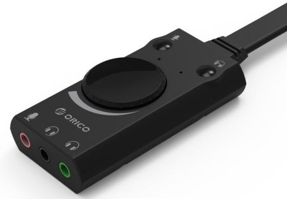 Звуковая карта USB Orico SC1-BK черный