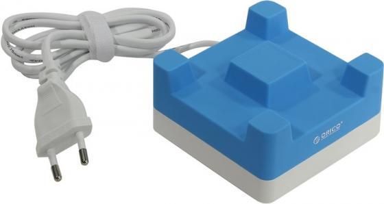 Сетевое зарядное устройство Orico CHA-4U-EU 2.4А 4 x USB синий сетевое зарядное устройство orico cha 4u eu gy 4 x usb 2 4а серый