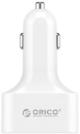 Автомобильное зарядное устройство Orico UCH-4U 2.4А 4 x USB белый автомобильное зарядное устройство orico uch q3 wh 2x2 4a 2a qc3 0 usb белый