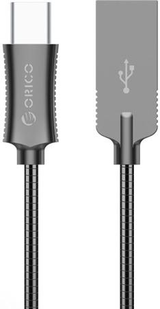 Кабель USB 2.0 AM-Type-C 1м Orico HTS-10 черный