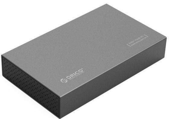 Внешний контейнер для HDD 3.5 SATA Orico 3518S3 USB3.0 серый внешний контейнер для hdd 2x3 5 sata orico 9528u3 usb3 0 серебристый