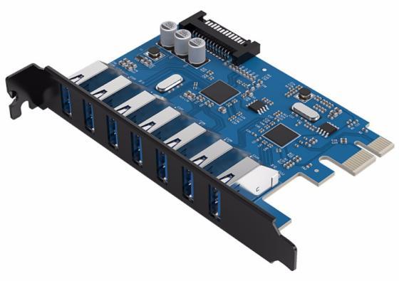Контроллер PCI-E Orico PVU3-7U 7xUSB 3.0 контроллер pci e orico pvu3 7u 7xusb 3 0