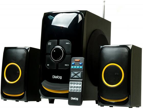Колонки Dialog AP-208 2x15 + 30 Вт черный колонки dialog disco ad 07 2x12вт черный