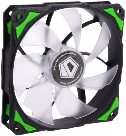 Вентилятор ID-Cooling PL-12025-G 120x120x25mm 600-2200rpm original sunon 12025 12cm 220v dp201at 2122hbl gn 120 long wide 25 thick double ball cooling fan