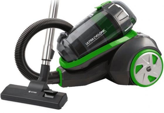 Пылесос Vitek VT-8130 BK сухая уборка зелёный чёрный выпрямитель волос vitek vt 8402 bk 35вт чёрный