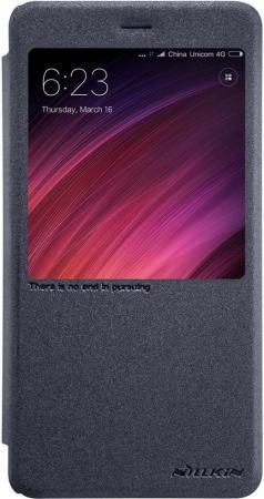 Чехол Nillkin Sparkle Leather Case для Xiaomi Redmi 4А черный цена в Москве и Питере