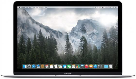 "Ноутбук Apple MacBook 12"" 2304x1440 Intel Core M3-7Y32 256 Gb 8Gb Intel HD Graphics 615 серый Mac OS X"