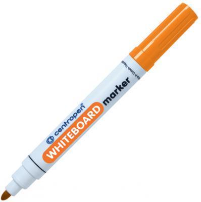 Маркер для доски Centropen 8569/1О 2.5 мм оранжевый маркер для доски centropen клиновидный наконечник оранжевый 8569 1о