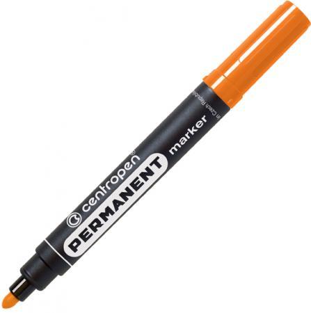 Маркер перманентный Centropen 8566/О 2.5 мм оранжевый маркер флуоресцентный centropen 8722 1о оранжевый 8722 1о