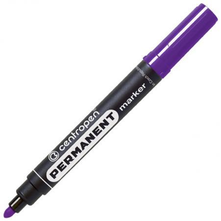 Маркер перманентный Centropen 8566/Ф 2.5 мм фиолетовый маркер флуоресцентный centropen 8722 1о оранжевый 8722 1о