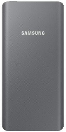 Портативное зарядное устройство Samsung EB-P3020BSRGRU 5000mAh 1xUSB серый портативное зарядное устройство samsung eb p3020 5000 мач переходник usb type c серебристо серый