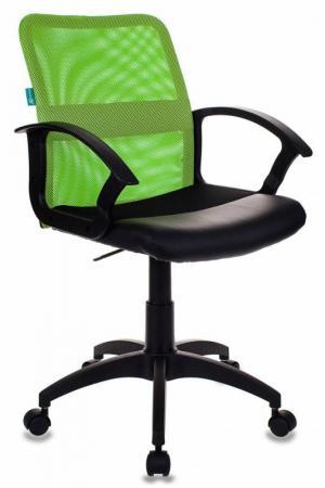 Кресло Бюрократ CH-590/SD/BLACK искусственная кожа спинка сетка салатовый сиденье черный