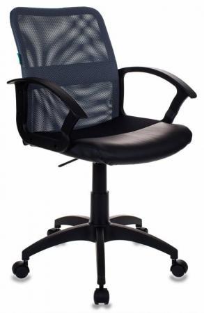 Кресло Бюрократ CH-590/DG/BLACK искусственная кожа спинка сетка серый сиденье черный кресло бюрократ ch 590 на колесиках искусственная кожа оранжевый [ch 590 or black]