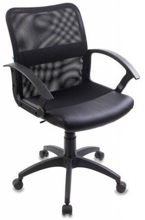 Кресло Бюрократ CH-590/BLACK искусственная кожа спинка сетка черный сиденье черный кресло бюрократ ch 590 на колесиках искусственная кожа оранжевый [ch 590 or black]