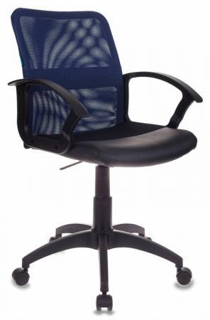 Кресло Бюрократ CH-590/BL/BLACK искусственная кожа спинка сетка синий сиденье черный кресло бюрократ ch 590 на колесиках искусственная кожа оранжевый [ch 590 or black]