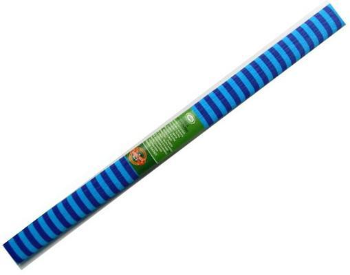 Бумага креповая Koh-i-Noor фиолетово-голубая полоска 200х50 см рулон 9755/63 бумага гофрированная koh i noor цвет черный 200 см x 50 см