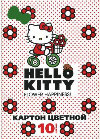 Набор цветного картона Action! Hello Kitty A4 10 листов в ассортименте 20cm kawai hello kitty plush toys high quality stuffed dolls for girls kids toys gift action