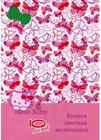 Цветная бумага Action! Hello Kitty A4 10 листов HKO-ACCP-10/10-2 в ассортименте набор цветного картона action strawberry shortcake a4 10 листов sw cc 10 10 в ассортименте