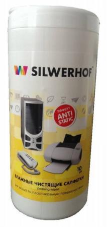 Чистящая салфетка Silwerhof Plastic Clean 10 шт 671201 jm45s 1k conductive plastic potentiometer angle sensor