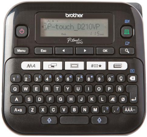 Принтер для печати наклеек Brother PT-D210 черный/белый принтер для наклеек brother pt d210vp