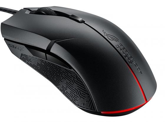 Мышь проводная ASUS ROG STRIX Evolve чёрный USB 90MP00J0-B0UA00 клавиатура asus strix tactic pro cherry mx black black usb 90yh0081 b2ra00