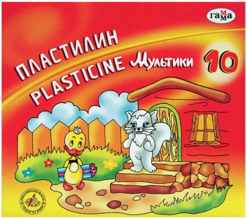 Пластилин Гамма Мультики 10 цветов 281017 цена 2017