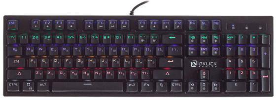 Клавиатура проводная Oklick 940G USB черный клавиатура проводная perfeo pf 855 hub usb черный