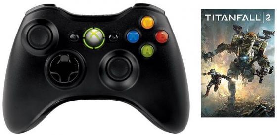 Беспроводной геймпад Microsoft Xbox 360 Wireless Controller for Windows JR9-00010-P + игра TITANFALL 2