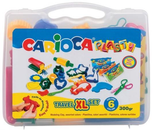 Набор для лепки CARIOCA PLASTY 6 цветов 43263 carioca набор пластиковых мелков plastello 12 цветов