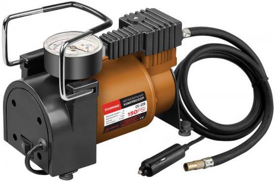 Автомобильный компрессор Starwind CC-220 автомобильный компрессор starwind cc 100 15л мин шланг 0 45м