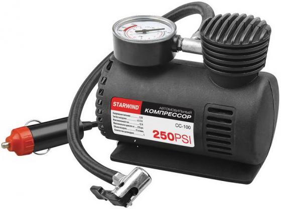 Автомобильный компрессор Starwind CC-100 автомобильный компрессор starwind cc 100 15л мин шланг 0 45м