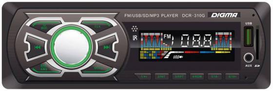 Автомагнитола Digma DCR-310G USB MP3 FM 1DIN 4x45Вт черный автомагнитола digma dcr 310g