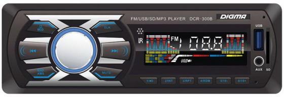 Автомагнитола Digma DCR-300B USB MP3 FM 1DIN 4x45Вт черный автомагнитола kenwood kdc 210ui usb mp3 cd fm 1din 4х50вт черный
